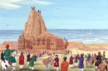 Aurangzeb's general order for the demolition of Hindu temples (9th April 1669) included the Somnath Temple in Gujarat.