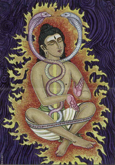 Shiva wearing a yoga band
