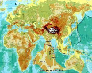 Lemuria-Kumari-Kandam-Map