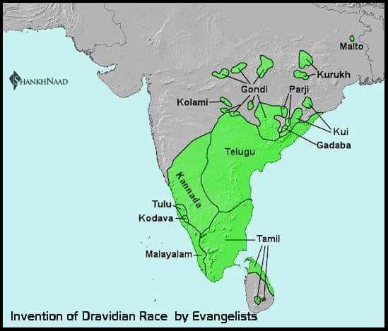 British evangelicals divided India in Aryans andDravidian